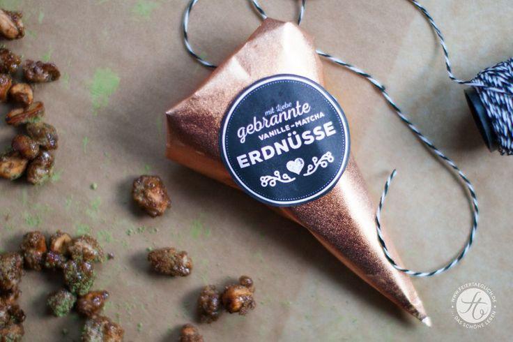 Geschenke aus der Küche: Gebrannte Vanille-Matcha Erdnüsse