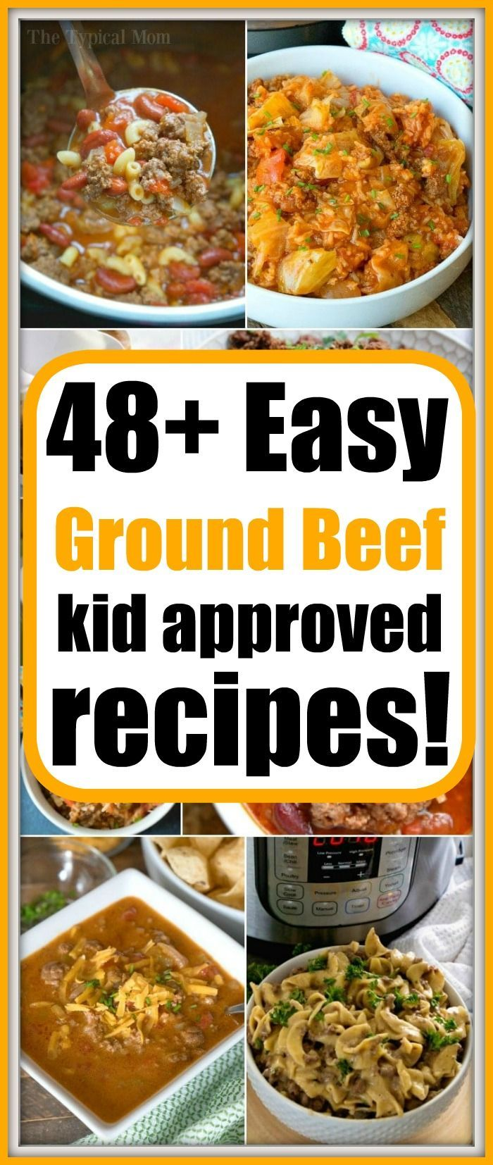 Easy Ground Beef Recipes For Families Kid Approved Simple And Cheap To Make In Your Crockpot Instan Ground Beef Recipes Easy Ground Beef Recipes Beef Recipes