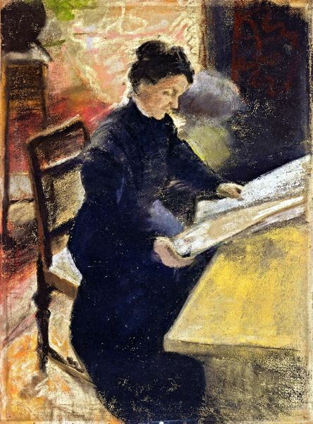 Sofie Gerhardt, Reading the Newspaper: 1907 August Macke German Expressionist Painter 1887 - 1914