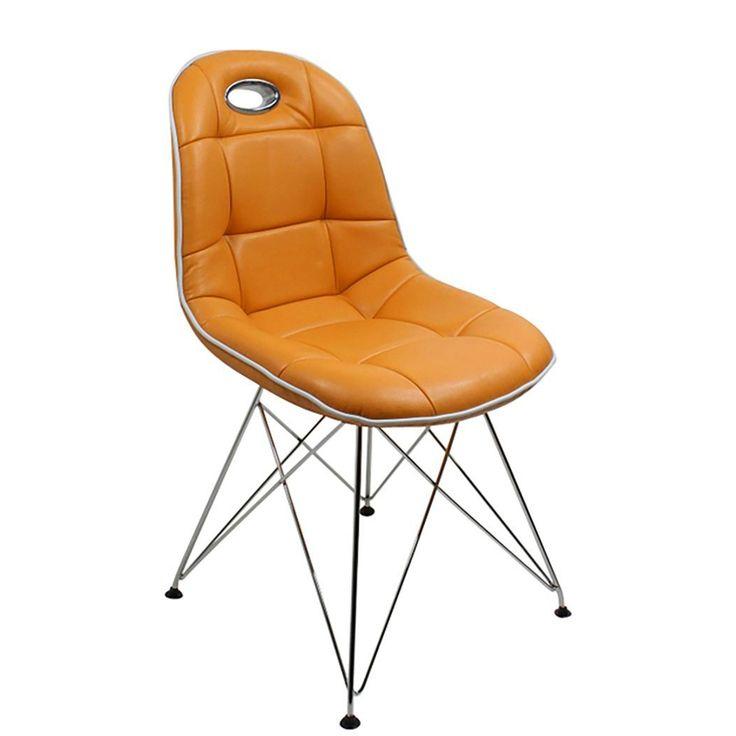 Elegant Esszimmer Stuhl St ck Anja Kunstleder Orange Jetzt bestellen unter https moebel ladendirekt de kueche und esszimmer stuehle und hocker esszimmerstuehle