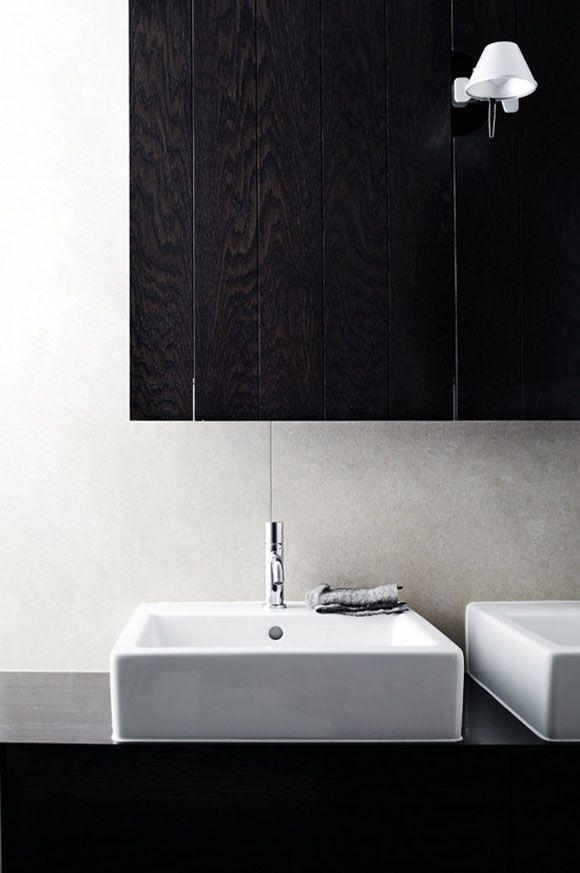 wood modern lamp glimpse bathroom Japanese Trash masculine design tastethis inspiration