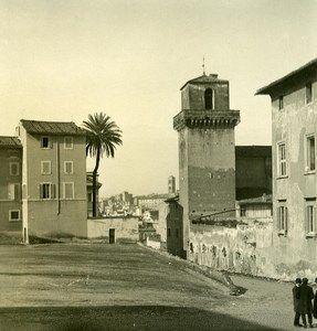 Italy Roma Borgia Tower old NPG Stereo Photo 1900
