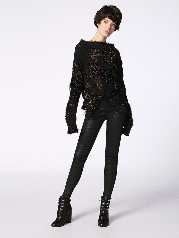 SLANDY-BK 0662E Super skinny Jeans for Woman | Diesel Online Store