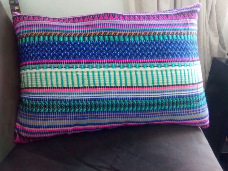 Cushion covers from Mexican woven fabric.