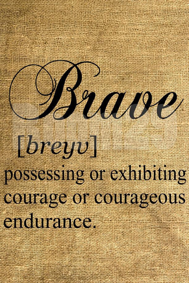 BRAVE Dictionary Definition - Download and Print - Image Transfer - Digital Collage Sheet by Room29 - Sheet no. 398