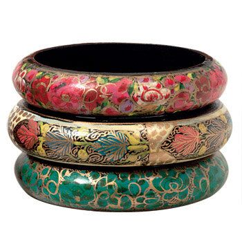 Bangle Hand Made Fair Trade Papier Mache Bracelets -Kashmiri Paier Mache Bracelets by SoulsationalGatherin on Etsy https://www.etsy.com/listing/238426991/bangle-hand-made-fair-trade-papier-mache
