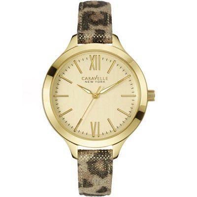 Caravelle New York - Ladies Carla Metallic Leopard Strap Watch - 44L161 - RRP: £69.00 - Online Price: £58.00