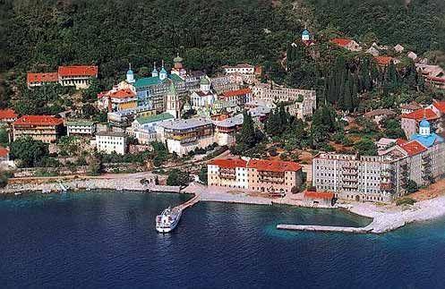 Another beautiful monastery on Mount Athos, Greece