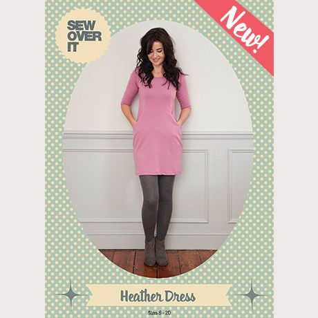 If you live in knits, the Heather Dress sewing pattern is for you!  Versatile and super comfy, the Heather Dress is sure to be a wardrobe staple. A gorgeously chic jersey dress, Heather can be smart as well as casual and will keep you looking put-together and fab wherever you are; at work, for dinner out or just at home. It's the perfect thing for cosying up in in winter. We love her paired with a chunky woolscarf, thick tights and boots for a stylish, effortless look.  The Heather Dress…