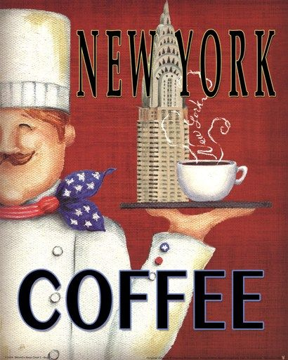New York ☮ Coffee or Tea? Vintage art and quotes ☮