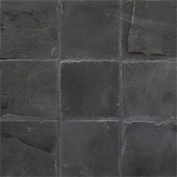 Mosaïque sol/mur en ardoise Brazil 10x10, noir, 30x30cm | Leroy Merlin