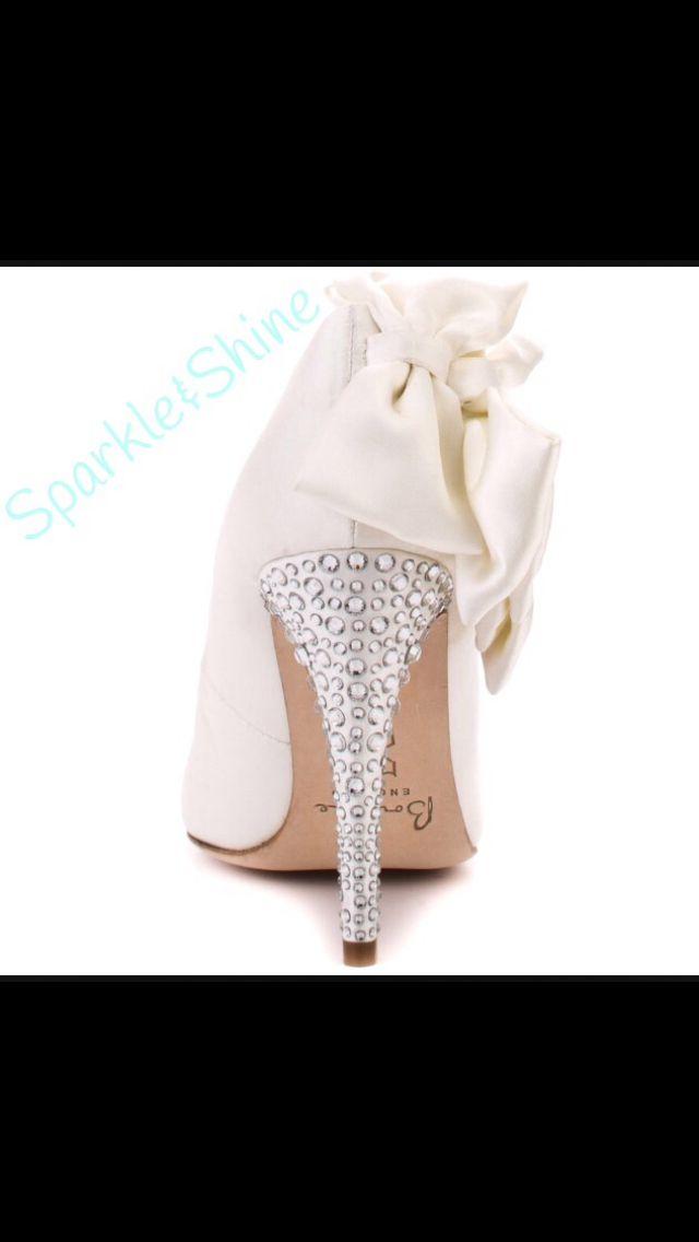 Cute bow and diamante heels
