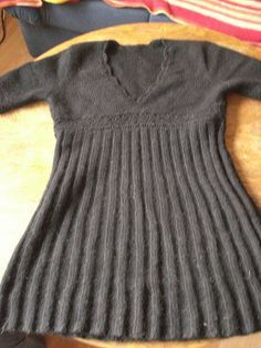 Empire Style Mini Dress--free knitting pattern