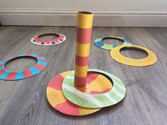 Cool project from http://www.kiwicrate.com/projects/Paper-Plate-Ring-Toss/2572: Paper Plate Ring Toss