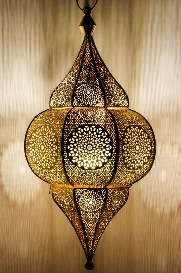 Orientalische Indische Lampe Deckenlampe Malha Gold Orientalische Hangeleuchten Hangeleuchten Aus Eisen Marokkanische Lampe Indische Lampen Hauslaternen