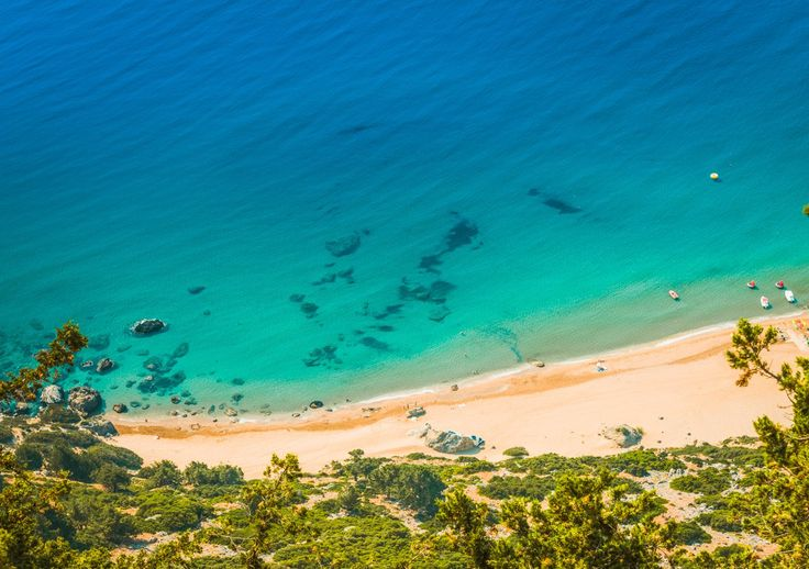 Tsambika beach, Rhodes, Greece - http://rhodos.gr/beaches/tsambika-beach/