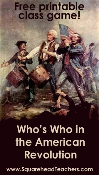 Whole Class Game: Who's Who in the American Revolutionary War