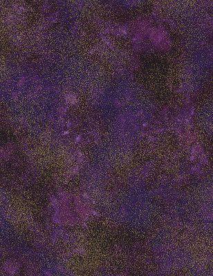 Fabric - Bronze Shimmer By Timeless Treasures, Metallic Blender Violet