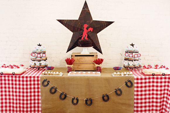 cowboy cake table
