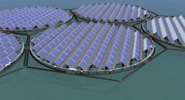Floating Solar Panels for reservoirs or lakes.