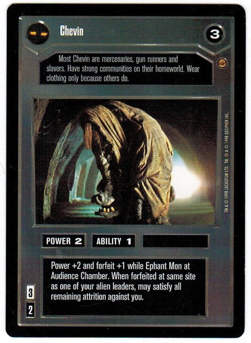 Star Wars CCG Jabba's Palace Chevin NrMint-MINT C #WizardsoftheCoast