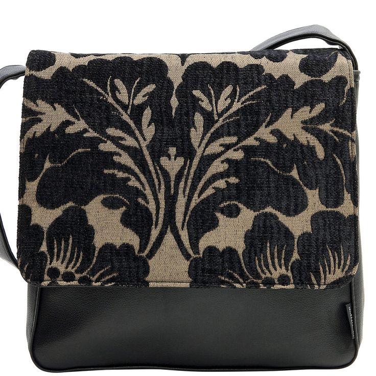 Haby Front Satchel Bag - Black Beige Haby - Catherine Manuell Design