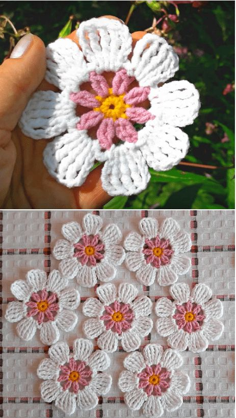 Crochet Easy Flower Video Tutorial – Bity Espat