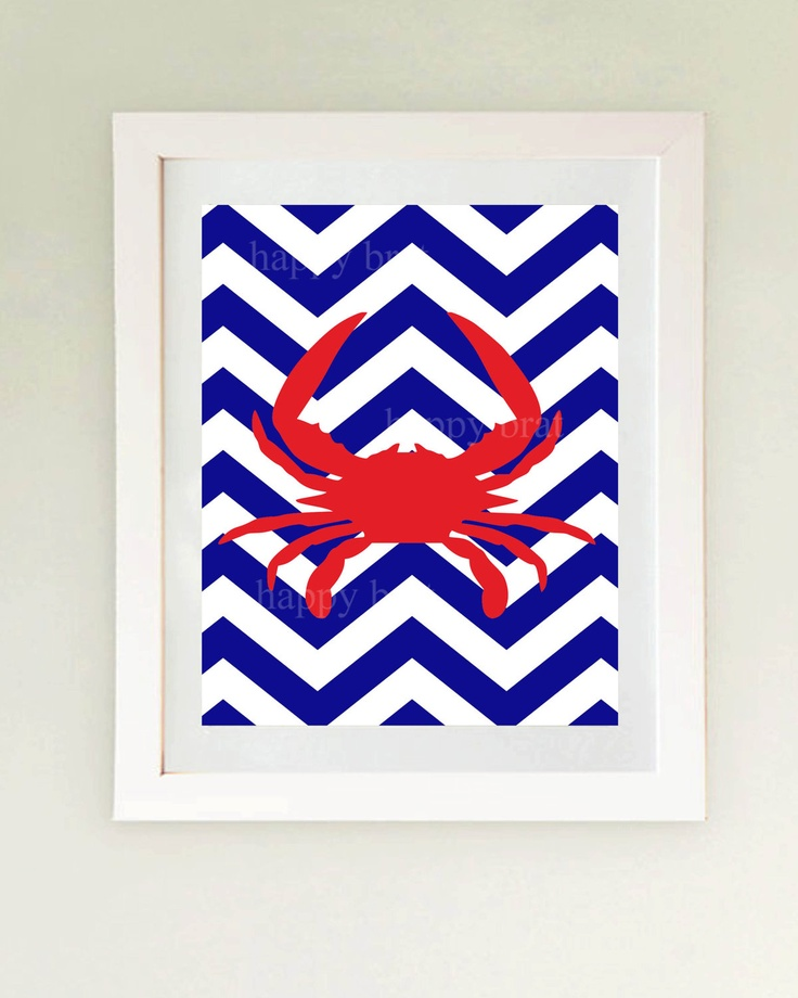 Nautical Art, Crab Art...
