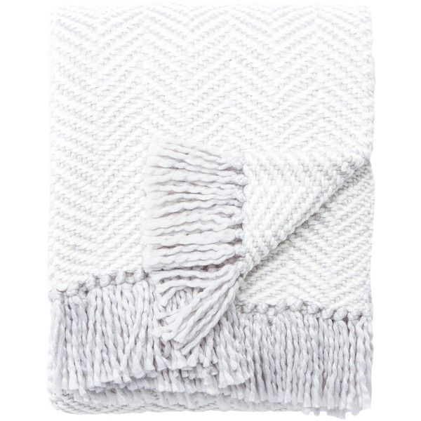 Seaport Throw in Platinum & Light Cream design by Kate Spade ($119) ❤ liked on Polyvore featuring home, bed & bath, bedding, blankets, throws & blankets, ivory throw blanket, off white bedding, herringbone throw, kate spade blanket and acrylic blanket