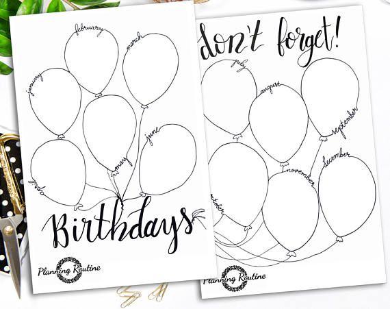 Birthday calendar stickers Birthday Sticker Calendar