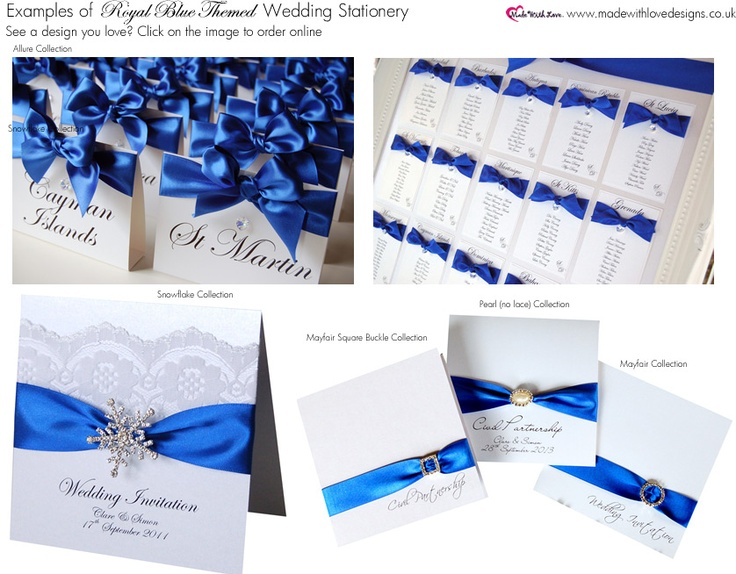Wedding Invitations Royal Blue And Silver: 78 Best Images About Wedding Invites On Pinterest