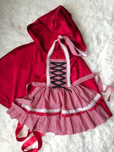 handmade little red riding hood costume