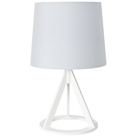 Enjoy the classic simplicity of white with modern good looks with the Mason Table Lamp White Base. If you've opted for a minimalist look, this elegant table lamp is just the thing to complement your scheme. It has a refined silhouette in crisp white offers a sleek feel. It's a lovely addition to a living zone or bedside table.