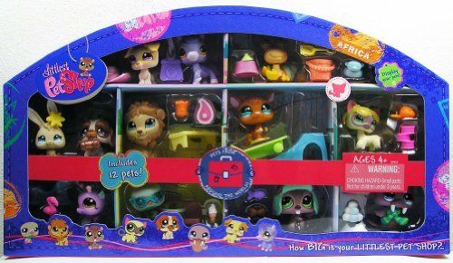 Littlest Pet Shop Exclusive 12 Pack Pets Set - Pets From Around the World with Siamese Cat (#1116) from China, Seahorse (#1115) from Jamaica, Lion (#1112) from Africa, Walrus (#1119) from Iceland, Jack Russel Terrier (#1110) and Horse (#1114) from New York USA, Hermit Crab (#1109) from Hawaii USA, Kangaroo (#1111) from Australia, Green Dove Pigeon (#1113) from Italy, St. Bernard Pu.... $99.99. Includes : Siamese Cat (#1116) from China, Seahorse (#1115) from Jamaica...