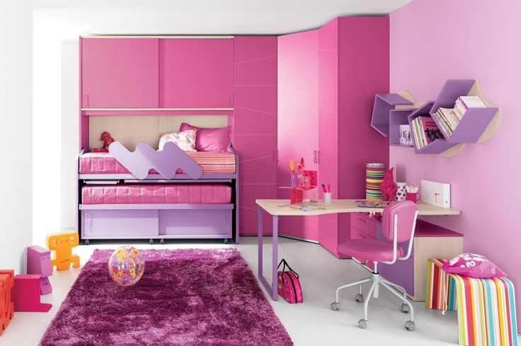 http://www.drissimm.com/wp-content/uploads/2015/04/Pretty-pink-purple-bedroom-interior-design-with-bunk-bed-and-rug-decoration.jpg