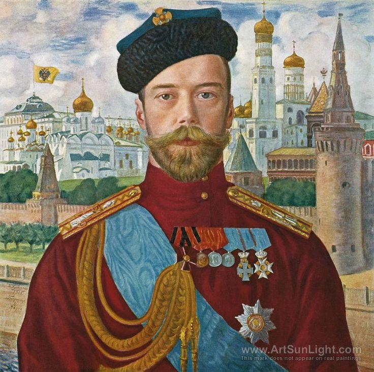 Царь Николай II - Бориса Кустодиева