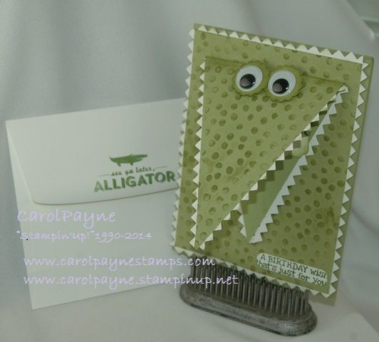 Stampin' Up!, See Ya Later, Perfect Pennants, Tasteful Trim, Pear Pizzazz, Decorative Dots, Remembering Your Birthday www.carolpaynestamps.com www.carolpayne.stampinup.net