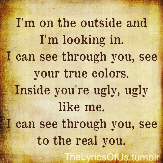 Outside by Staind. My absolute favorite song ever!