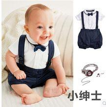 2017 outono crianças conjuntos de roupas de lazer das crianças do bebê menino terno cavalheiro clothesT shirt + calças + Bow para casamentos roupas formais(China (Mainland))