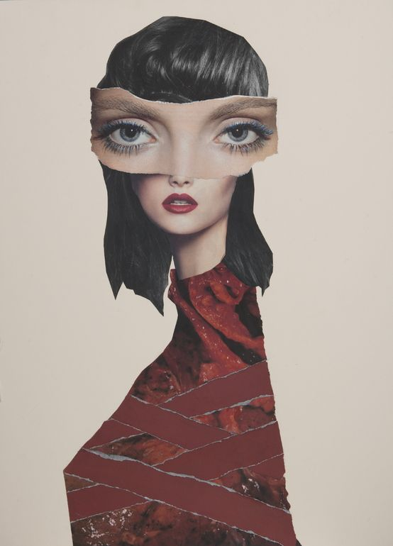 """Saatchi Online Artist: Lee Mcconville; Paper, 2012, Assemblage / Collage """"Wrapped"""""""