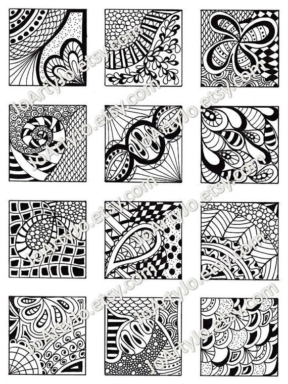 PDF Digital Collage Sheet Black and White Images by JoArtyJo