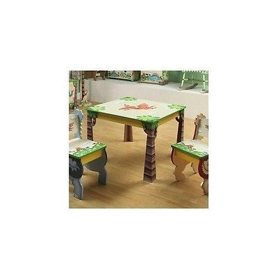 Dinosaur Dino Kingdom 3 Piece Table and Chair Set Children's Furniture Decor