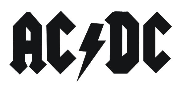 AC/DC Logo! rock and roll vector logos