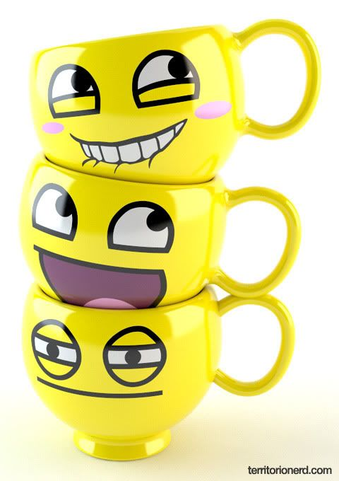 Emoji mugs! Cool!