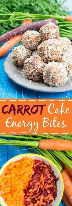 Carrot Cake No Bake Energy Bites with Cinnamon #vegan #carrotcake