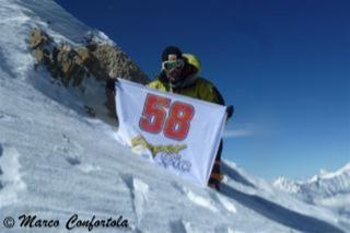 Marco Confortola with Marco Simoncelli #58 at 8000m on Mount Manaslu (Nepal)!!