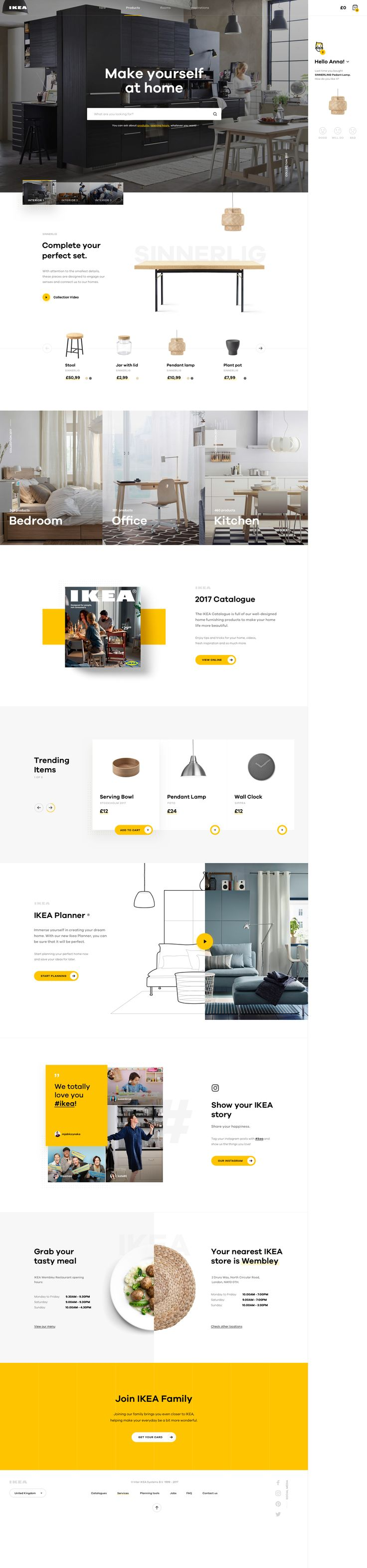 Ikea homepage