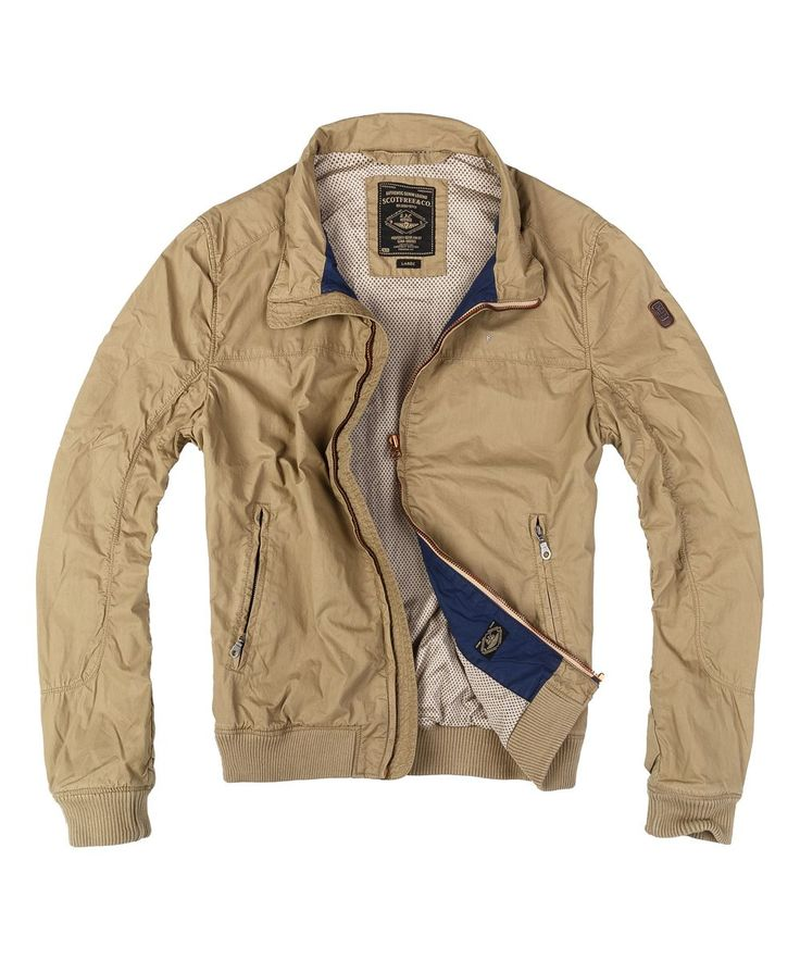 Beige Zip-Up Bomber Jacket