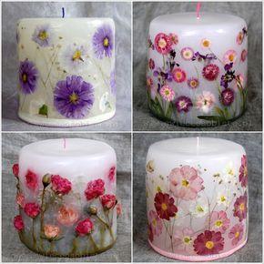 Veja que lindas essas velas decoradas!!! Neste post trouxemos um passo a passo bem simples para que você possa fazer esta 'arte' com a certeza e tranquilida