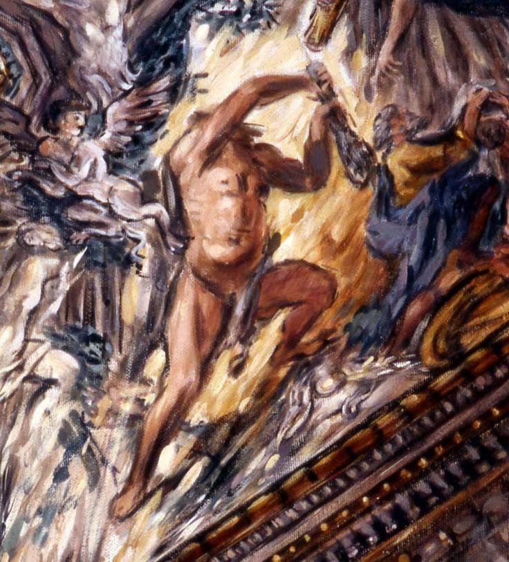 Philippe Casanova; Barberini Palace (Rome); Cortona's affresco (detail); tempera on canva; 2002